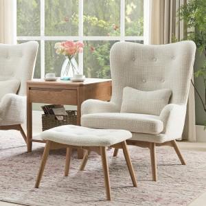 K062北欧自然休闲沙发椅米白