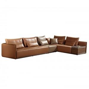 C501A-LZ洛氏英伦沙发组合真皮左贵妃